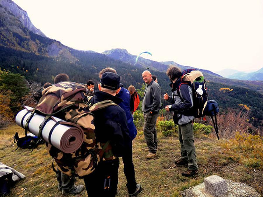 Montagne trek évolution survie