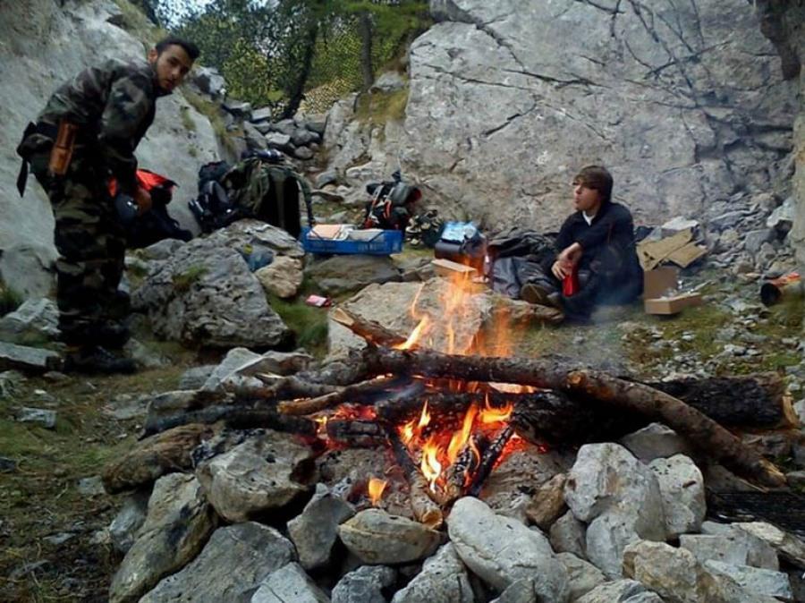Feu de camp nature survie