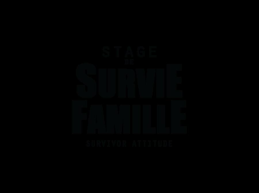Stage de survie famille logo survivor attitude