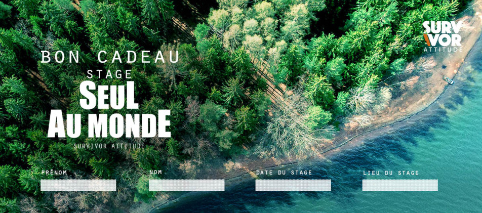 Bon cadeau stage de survie intensif nature survivor attitude