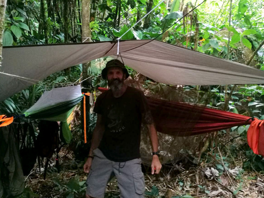 Hamac survie jungle Guadeloupe